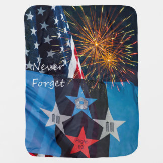 National Remembrance Never Forget Receiving Blanket