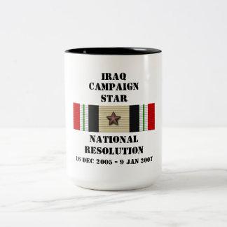 National Resolution  / CAMPAIGN STAR Two-Tone Coffee Mug