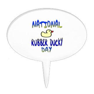 National Rubber Ducky Day Cake Picks