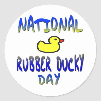 National Rubber Ducky Day Classic Round Sticker