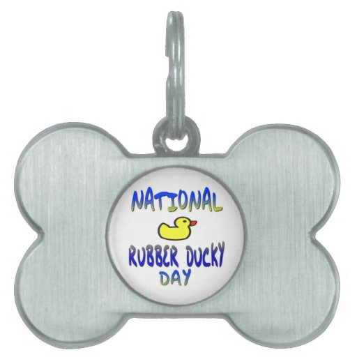 National Rubber Ducky Day Pet Name Tag