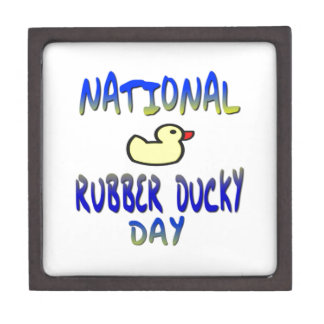 National Rubber Ducky Day Premium Jewelry Boxes