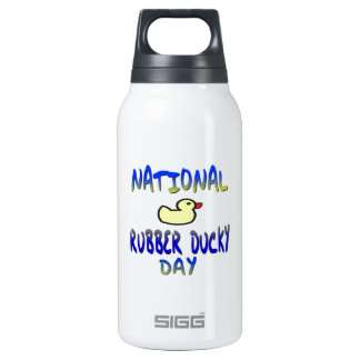 National Rubber Ducky Day 10 Oz Insulated SIGG Thermos Water Bottle