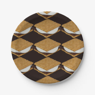 National S'Mores Day Paper Plate