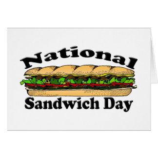 National Sandwich Day Stationery Note Card