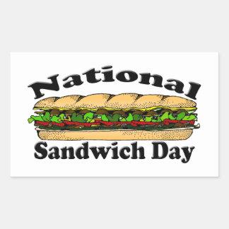 National Sandwich Day Rectangular Sticker