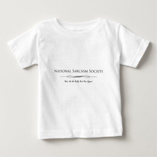 National Sarcasm Society Baby T-Shirt