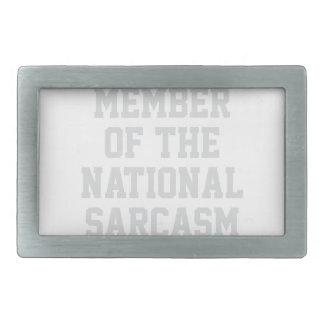 National Sarcasm Society Belt Buckle