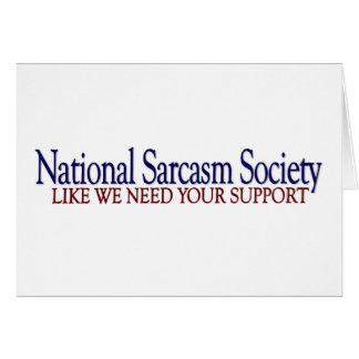 National Sarcasm Society Cards