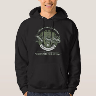 National Sarcasm Society Hooded Pullover