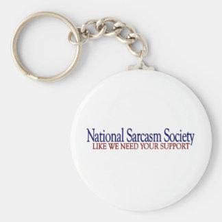 National Sarcasm Society Keychain