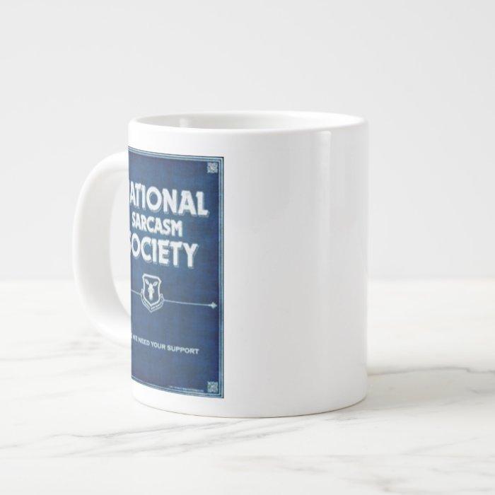 National Sarcasm Society Large Coffee Mug