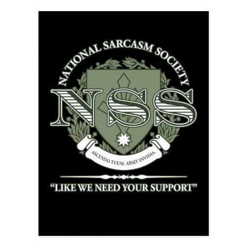 National Sarcasm Society Postcard