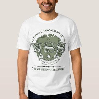 National Sarcasm Society T Shirt