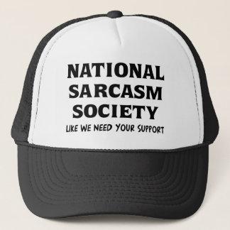 National Sarcasm Trucker Hat