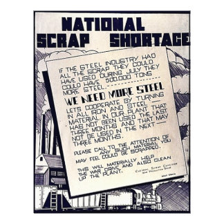 National Scrap Shortage Personalized Flyer