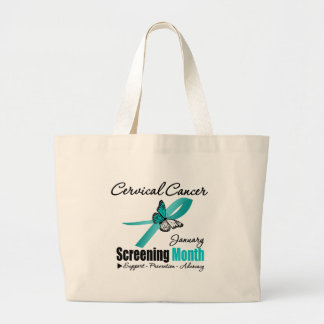 National Screening January Month - Cervical Cancer Tote Bags