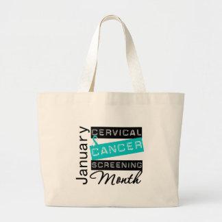 National Screening Month Awareness Cervical Cancer Tote Bag