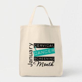 National Screening Month Awareness Cervical Cancer Canvas Bag