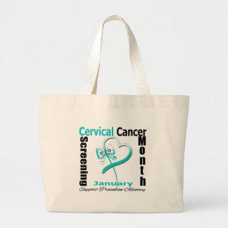 National Screening Month - Cervical Cancer Tote Bag