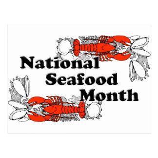 National  Seafood Month Postcard