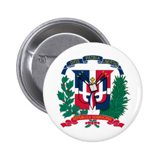 National Seal of The Dominican Republic Pinback Button