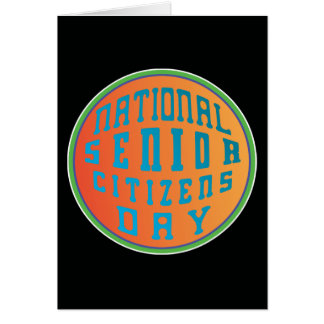 National Senior Citizens Day Psychedelia Card