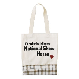 National Show Horse Zazzle HEART Tote Bag