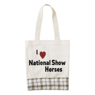National Show Horses Zazzle HEART Tote Bag