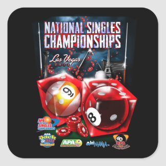 National Singles Championships - Dice Design Square Stickers