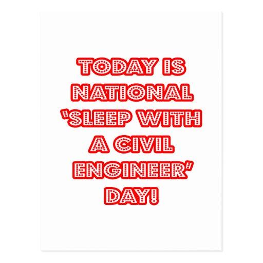 National 'Sleep With a Civil Engineer' Day Postcard
