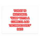 National 'Sleep With a Clinical Lab Tech' Day Post Cards