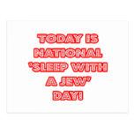 National 'Sleep With a Jew' Day Postcard