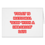 National 'Sleep With a Librarian' Day Cards
