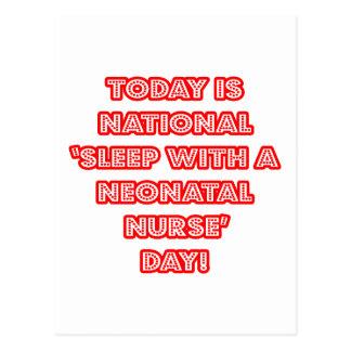 National 'Sleep With a Neonatal Nurse' Day Postcard
