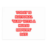 National 'Sleep With a Nurse Midwife' Day Postcard