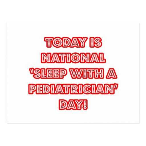 National 'Sleep With a Pediatrician' Day Postcard