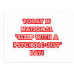 National 'Sleep With a Psychologist' Day Post Card