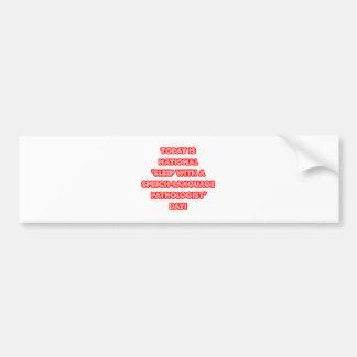 National 'Sleep With a SLP' Day Bumper Sticker