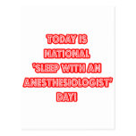 National 'Sleep With an Anesthesiologist' Day Postcard