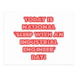 National 'Sleep With an Industrial Engineer' Day Postcards