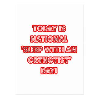 National 'Sleep With an Orthotist' Day Postcard