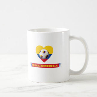 National SOCCER and flag of COLOMBIA 2014 Coffee Mug