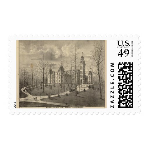 National Soldiers Home, Milwaukee County Postage Stamps