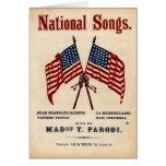 National Songs Vintage Sheet Music Card