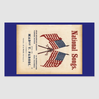 National Songs Vintage Sheet Music Sticker