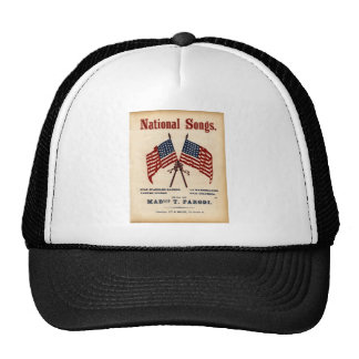 National Songs Vintage Sheet Music Trucker Hat