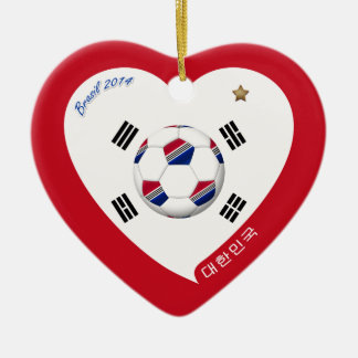 National South Korea SOCCER and of world 2014 Ceramic Ornament
