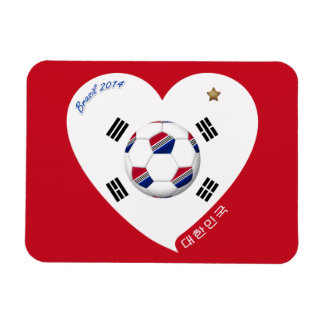 National South Korea SOCCER and of world 2014 Rectangular Magnets