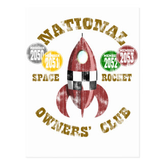 National Space Rocket Owners Club Postcard